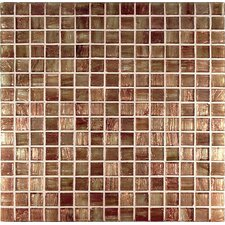 "Bronze/Gold Monocolor 13"" x 13"" Glass Mosaic in Ramato Monocolor Bronze"
