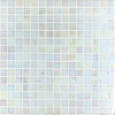 "<strong>Casa Italia</strong> Madreperla 13"" x 13"" Glass Mosaic in Bianco"