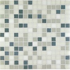 "<strong>Casa Italia</strong> Project Base 13"" x 13"" Glass Mosaic in Grey Mix Basic"