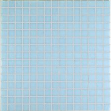 "<strong>Casa Italia</strong> Project Base 13"" x 13"" Glass Mosaic in Pale Blue Basic"
