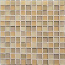 "<strong>Casa Italia</strong> Crystal-A 11.75"" x 11.75"" Glass Mosaic in Beige Mix Frosted"