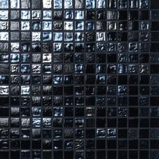 Madreperla Glass Mosaic in Nero Mix