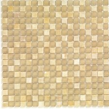 "<strong>Casa Italia</strong> Pure & Natural 11.75"" x 11.75"" Natural Stone and Glass Mosaic in Onix Beige"