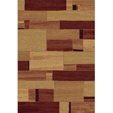 Galleria Beige Red Block Modern Rug