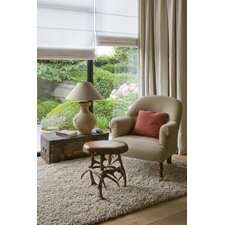 Twilight Beige / White Shag Rug
