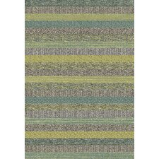 Woodstock Green Stripe Rug