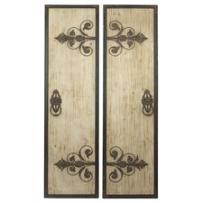 Juliet 2 Piece Large Plaque Wall Decor Set