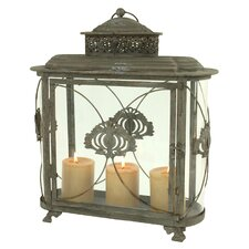 Kyndal Metal and Glass Lantern