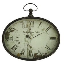"Sadie 16.5"" Oval Wall Clock"
