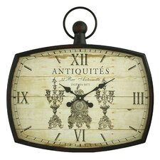 "26.5"" Antoinette Pocket Watch Wall Clock"