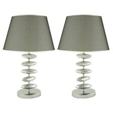 "Arley 23"" H Table Lamp with Empire Shade (Set of 2)"