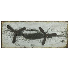 Harrison Metal Airplane Wall Decor