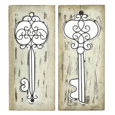 Emmaline 2 Piece Key Wall Decor Set