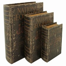 Nat Geo 3 Piece Faux Book Boxes