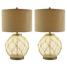 "Payson 25"" H Table Lamp with Drum Shade (Set of 2)"