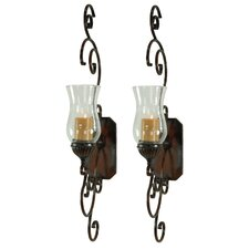 Bentley Metal and Glass Sconce (Set of 2)