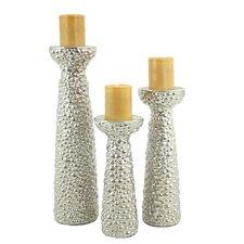 Niya 3 Piece Ceramic Candlestick Set