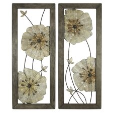 Marla 2 Piece Flower Wall Decor Set