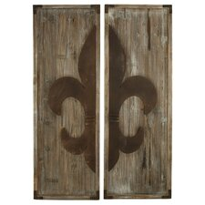 Fleur De Lis 2 Piece Panel Wall Decor Set