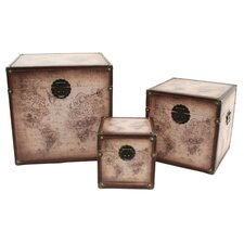Windsor 3 Piece Square Trunk Set