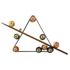 Triangle and Balls Billiard Wall Decor