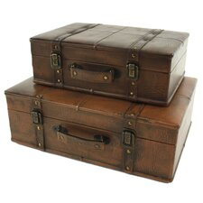 Smithfield 2 Piece Suitcase Trunk Set