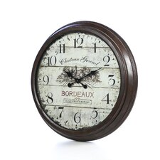 "Oversized 28"" Bordeaux Vintage Style Wall Clock"