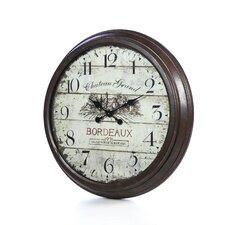 "Oversized 28"" Bordeaux Vintage Style Wall Clock"