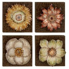 Floral Wall Plaque (Set of 4)