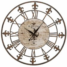 "36"" Wrought Iron Wall Clock"