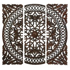 Carved Wooden Wall Art (Set of 3)