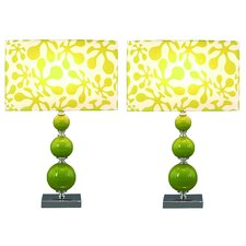 """Beta 20"""" H Table Lamp with Drum Shade (Set of 2)"""
