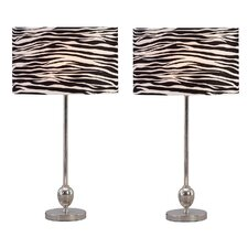 Zebra Table Lamp (Set of 2) (Set of 2)
