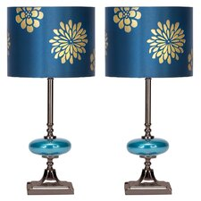 "Braxton 19"" H Table Lamp with Drum Shade (Set of 2)"