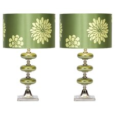 """Seymour 23"""" H Table Lamp with Drum Shade (Set of 2)"""