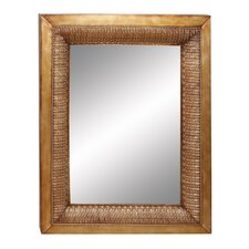 "<strong>Aspire</strong> 38"" Embossed Leaf Mirror"