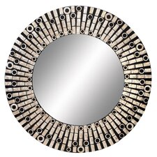 "<strong>Aspire</strong> 31"" Capiz Shell Round Wall Mirror"