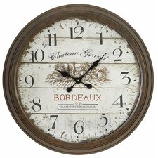 "<strong>Aspire</strong> Oversized 28"" Bordeaux Vintage Style Wall Clock"