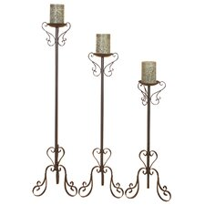 Tall Metal Candlesticks (Set of 3)