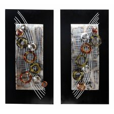 Abstract Staff Wall Plaque (Set of 2)