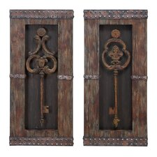 2 Piece Key Wall Décor Set