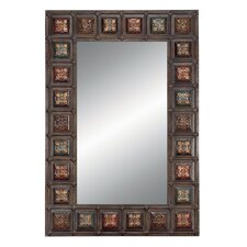"44"" Rectangular Wall Mirror with Medallions"