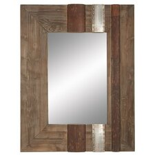 Rustic Wood Wall Mirror
