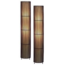 Theo Bamboo Floor Lamp (Set of 2)