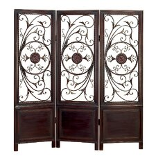 Room Divider with Elegant Metal Designs