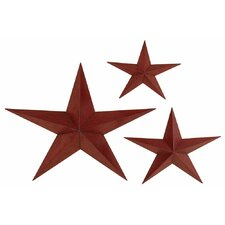 Star Wall Plaques Set (Set of 3)