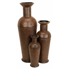 Textured Floor Vases (Set of 3)