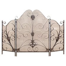 Elegant 3 Panel Metal Fire Screen