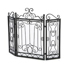3 Panel Wrought Iron Fire Place Screen