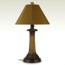 Palm Outdoor Table Lamp with Sunbrella® Shade